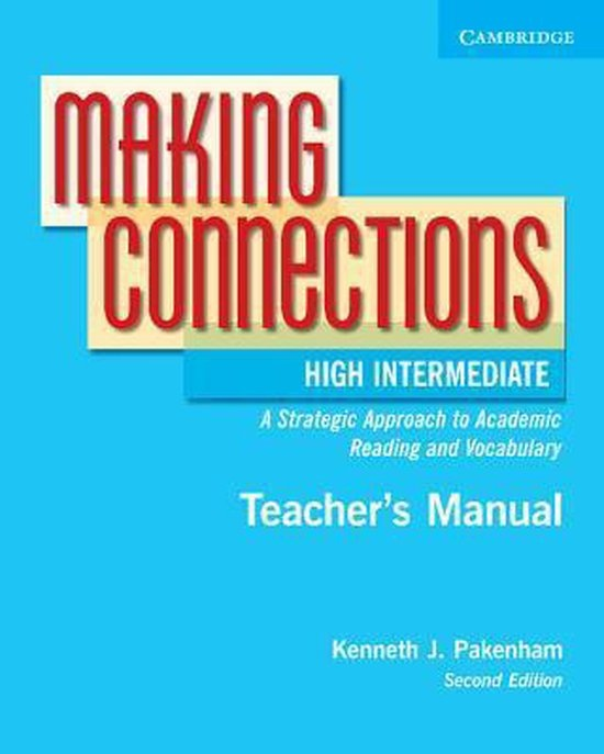 Making Connections High Intermediate Instructor´s Manual : 9780521542852