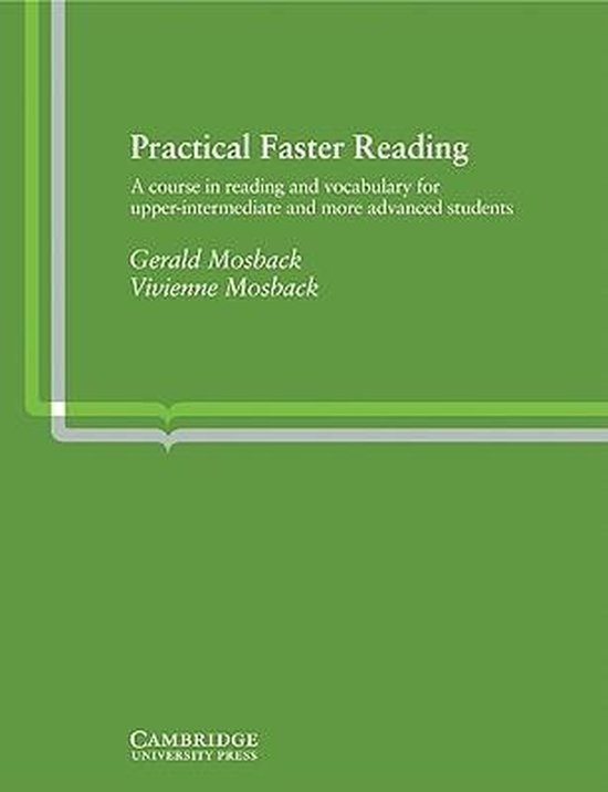 Practical Faster Reading Book : 9780521213462