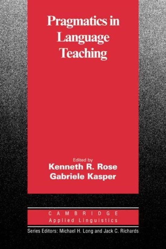 Pragmatics in Language Teaching : 9780521008587