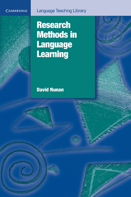 Research Methods in Language Learning PB : 9780521429689