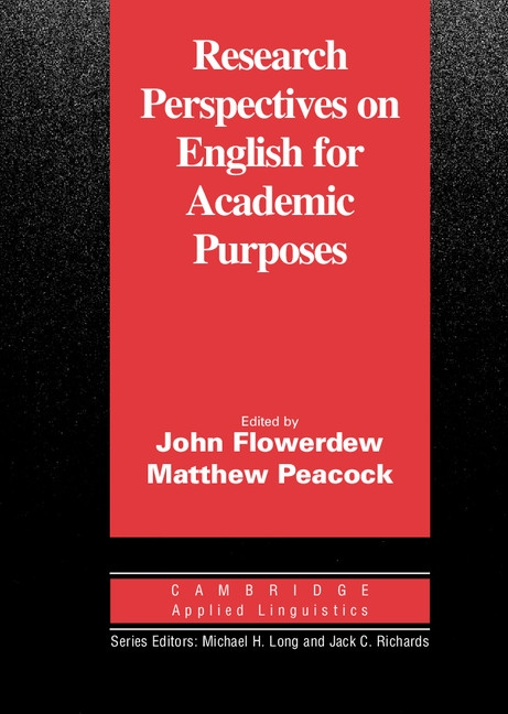 Research Perspectives on English for Academic Purposes : 9780521805186