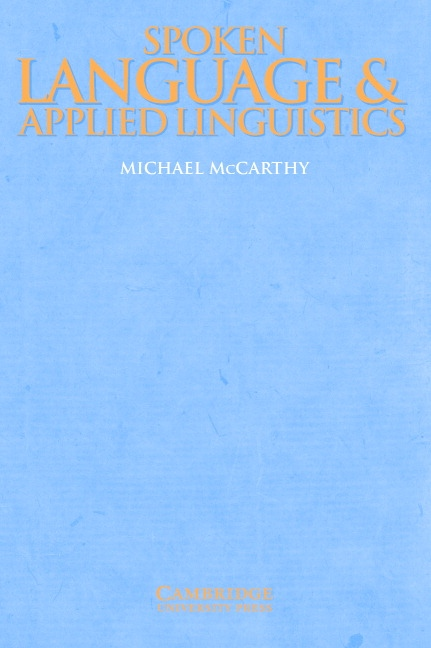 Spoken Language and Applied Linguistics PB : 9780521597692