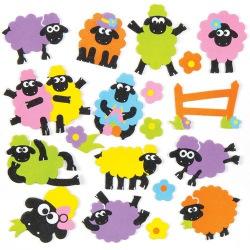 Pěnové samolepky ovečky (120ks)