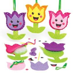 Dekorace tulipánci - šitíčko (3ks)