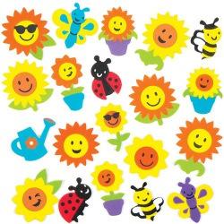 Pěnové samolepky slunečnice (120 ks)