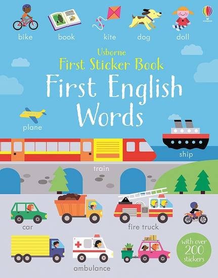 First Sticker Book First English Words