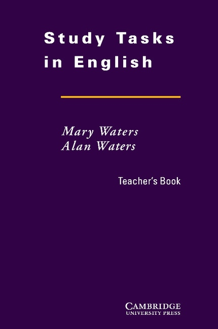 Study Tasks in English Teacher´s Book
