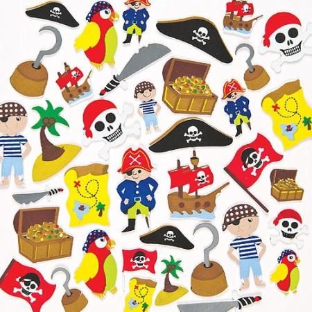 Pěnové samolepky piráti (96ks)