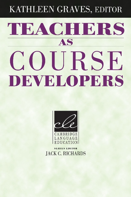 Teachers As Course Developers PB : 9780521497688