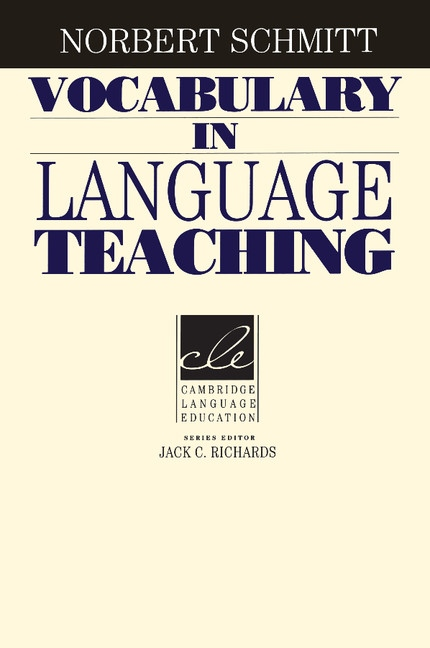 Vocabulary in Language Teaching : 9780521669382