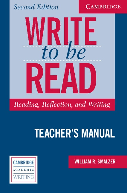 Write to Be Read Second Edition Teacher´s Manual