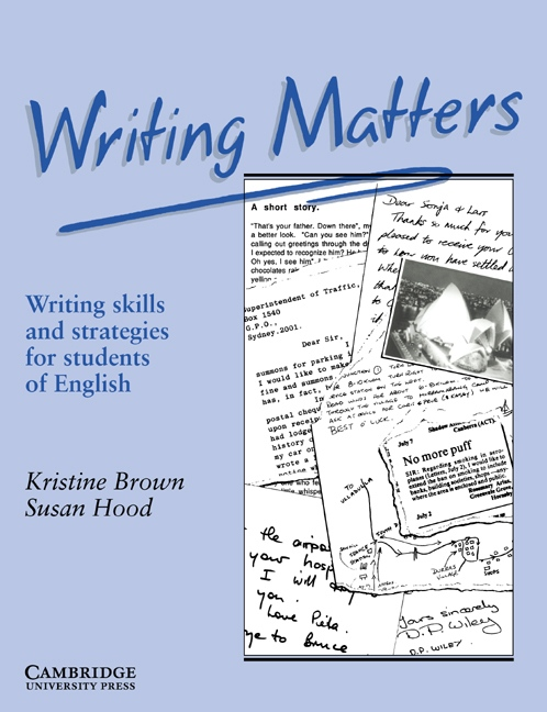Writing Matters Book : 9780521348959