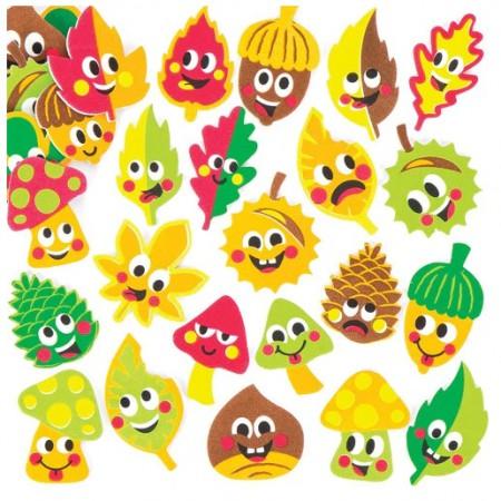 Pěnové samolepky podzimní kamarádi (120 kusů) - AV360