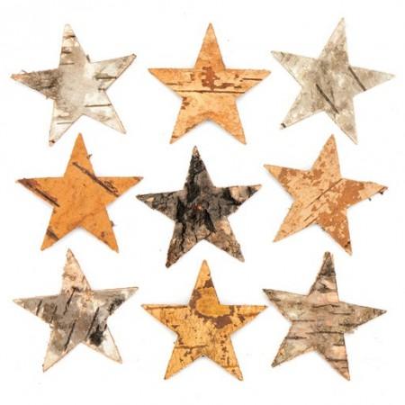 Hvězdičky z kůry (30 kusů) - AV885 : 5051174080065