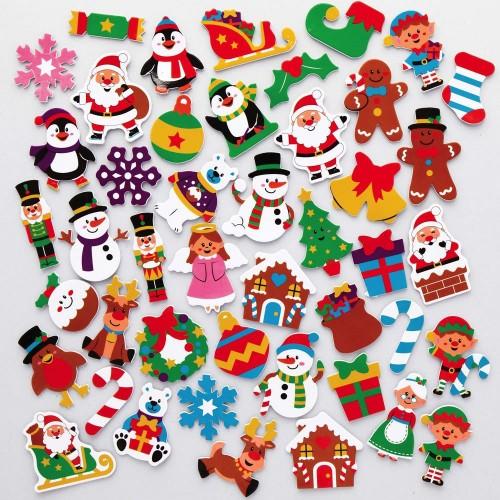 Vánoční pěnové samolepky (200kusů) - AX396