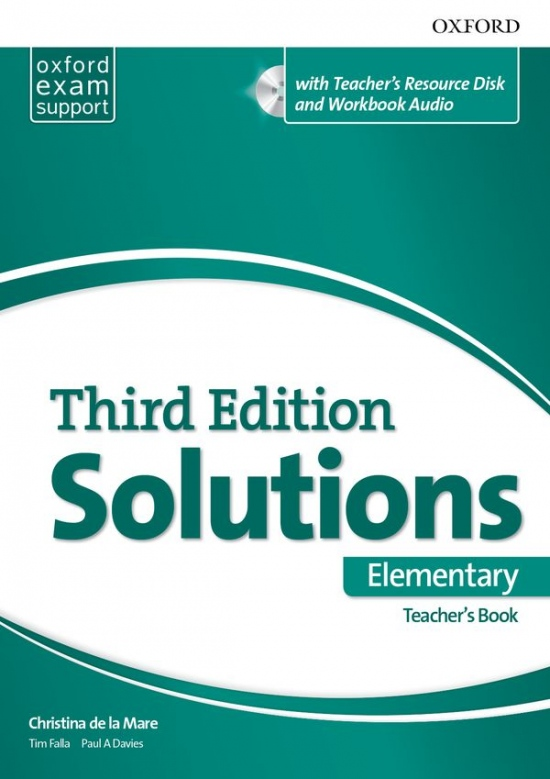 Solutions 3rd Edition Elementary Teacher´s Book with Resource Disc