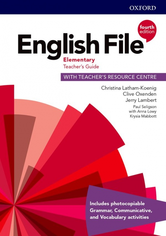 English File Fourth Edition Elementary Teacher´s Book with Teacher´s Resource Center