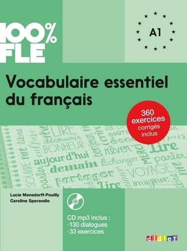 100% FLE Vocabulaire essentiel du francais niv. A1 - Livre + CD