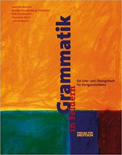 Grammatik in Feldern Übungsbuch : 9783190072569