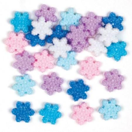 Korálky sněhové vločky (200ks)