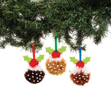 Dekorace vánoční puding - bambulka (3ks) : 5051174099333