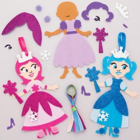 Sada k výrobě dekorace sněhová princezna (6ks) : 5051174098923
