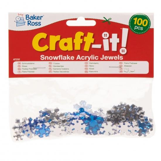 Akrylové sněhové vločky (150ks) : 5051174099586