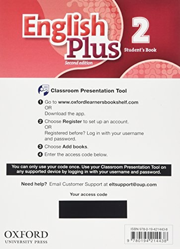 English Plus Second Edition 2 Classroom Presentation Tool Student´s eBook Pack (Access Code Card)