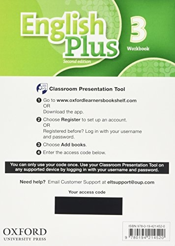 English Plus Second Edition 3 Classroom Presentation Tool eWorkbook Pack (Access Code Card) : 9780194214520