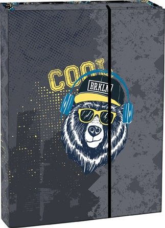 Box na sešity s klopou A4 Cool bear