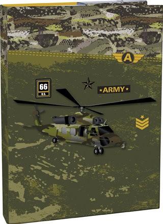 Box na sešity s klopou A4 Army : 8591577055576