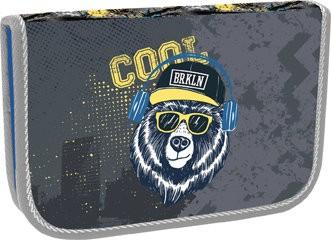 Školní penál jednopatrový Cool bear