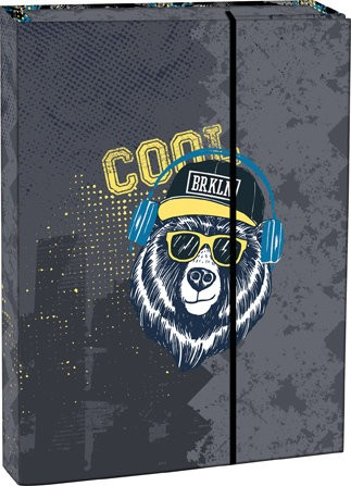 Box na sešity s klopou A5 Cool bear