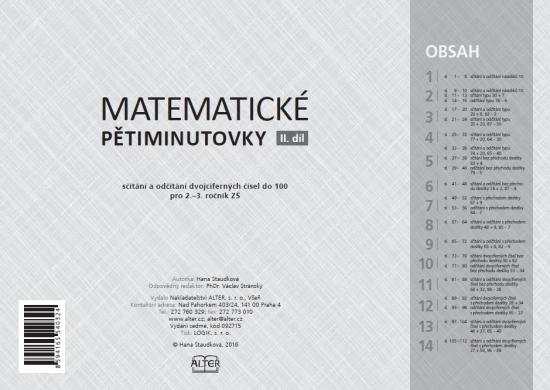 MATEMATICKÉ PĚTIMINUTOVKY - II. díl : 92715