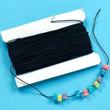 Černá elastická šňůrka na korálky (30m)