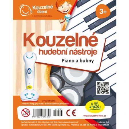 Kouzelné čtení Kouzel. nástroje - Piano a bub : 8590228016843