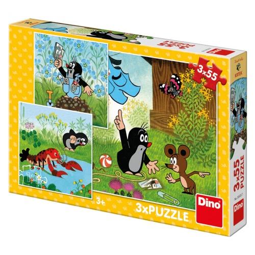 KRTEČEK A KALHOTKY 3x55 Puzzle NOVÉ