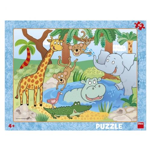 ZVÍŘÁTKA V ZOO 40 deskové Puzzle  : 8590878322233