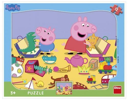 PEPPA PIG SI HRAJE 12 deskové tvary Puzzle