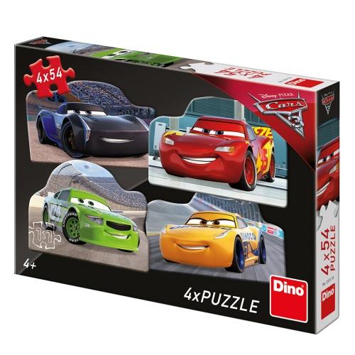CARS 3: RIVALOVÉ 4x54 Puzzle NOVÉ