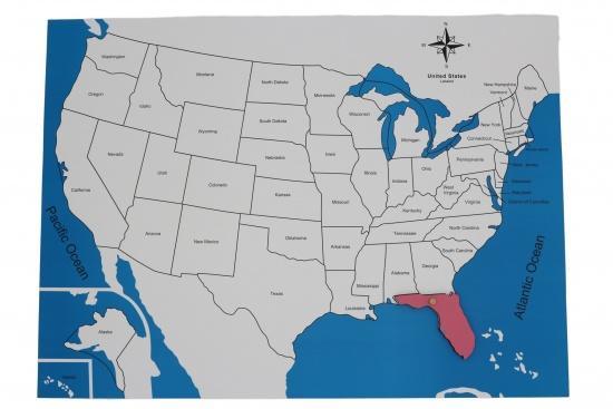 Kontrolní mapa - USA Nová - s popisky : 8596027000779
