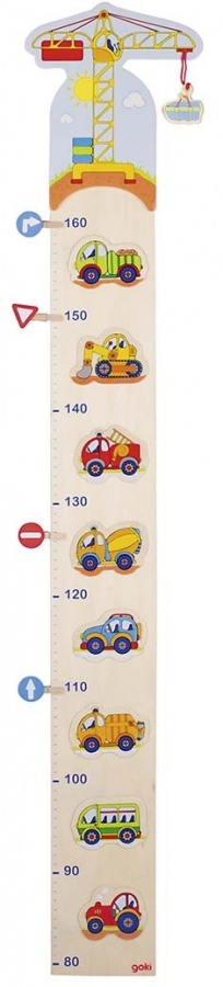 Dětský dřevěný metr – autíčka a značky, 105 cm : 4013594608503
