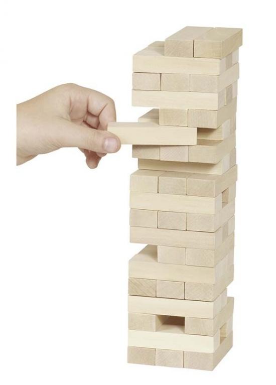 Zábavná hra – Dřevěná věž Jenga natur : 4013594095303
