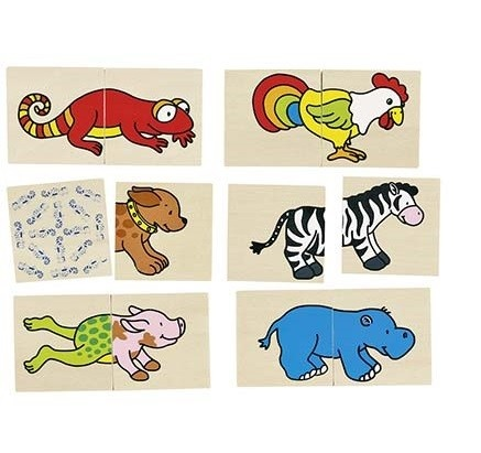 Pexeso a puzzle v jednom - Veselá zvířátka : 4013594560375