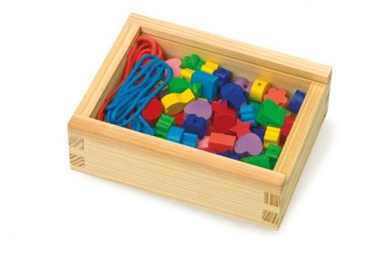 Mix barevných korálků v dřevěné krabičce : 4020972110602