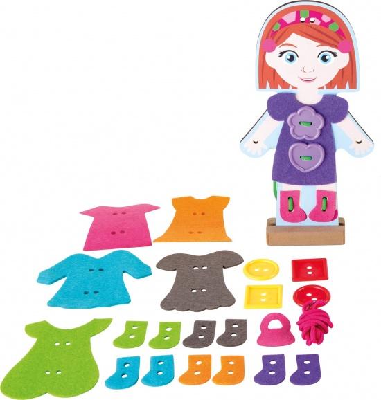 Oblékací panenka s pomocí vyšívání : 4020972101853