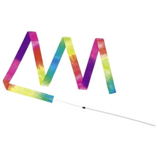 Gymnastická stužka s hůlkou – duha : 4013594155274