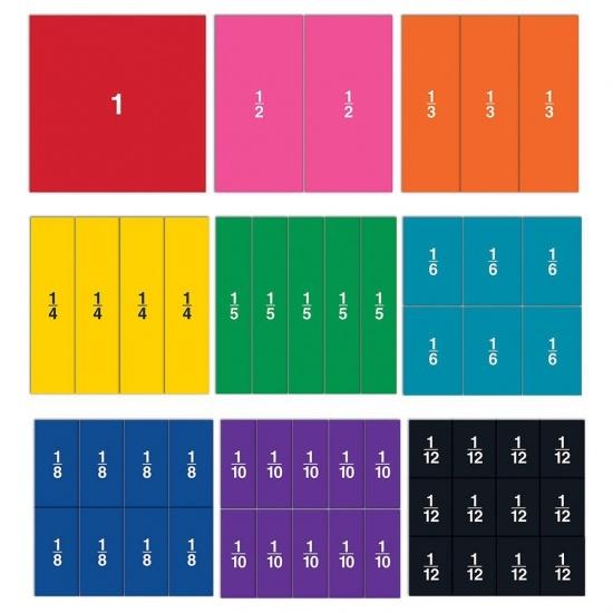 Barevné zlomky - čtverce (oboustranné) : 765023816174
