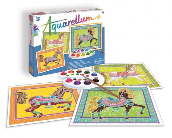 Akvarely - Přehlídkoví koně