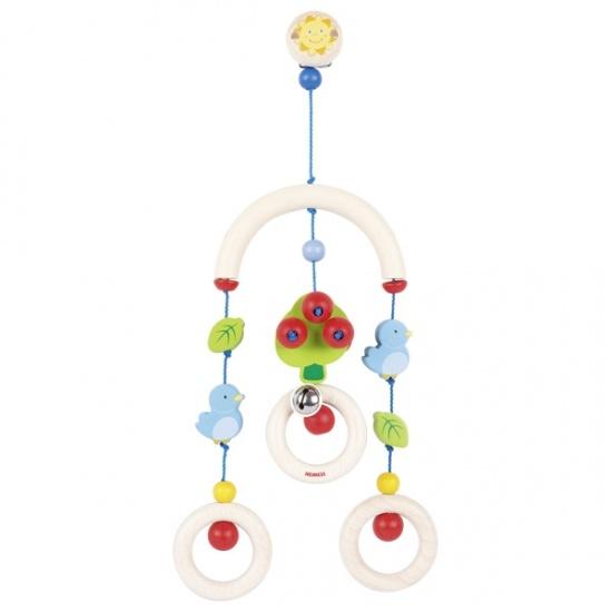 Dřevěný kolotoč pro miminka - strom, ptáček a list : 4011534360900